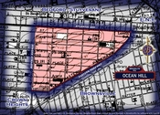 Neighborhood borders map for Ocean Hill