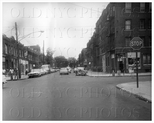 Newport Avenue looking east at Saratoga Avenue Brownsville 1966