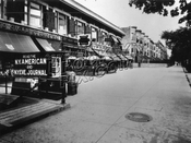 North side of Eastern Parkway, looking east from Franklin Avenue, 1935