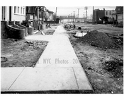 North sidewalk of Ave T, looking east from West 4th Street-  1922