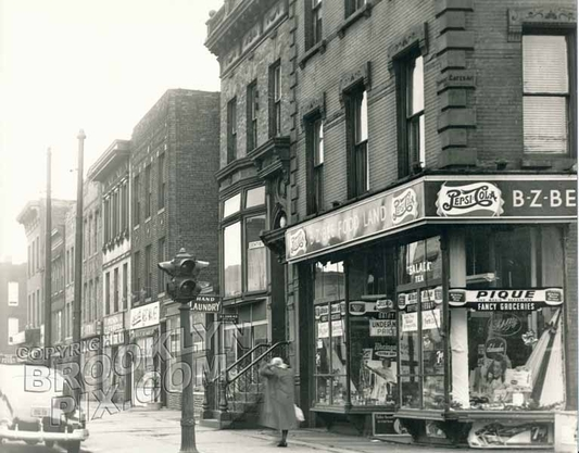 Northeast corner, Tompkins and Gates Avenues, 1949