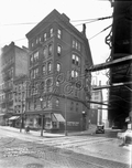 Northwest corner Sands and Jay Streets, 1930
