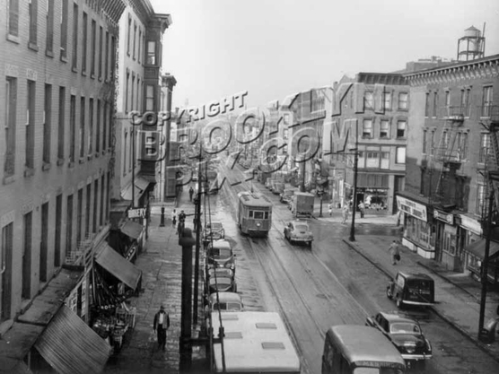 Nostrand Avenue looking north from Lexington Avenue Elevated