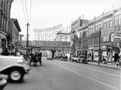 Nostrand Avenue looking north from Pacific Street to Atlantic Avenue, 1935