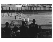 NY Giants taking the field - Polo Grounds 1957