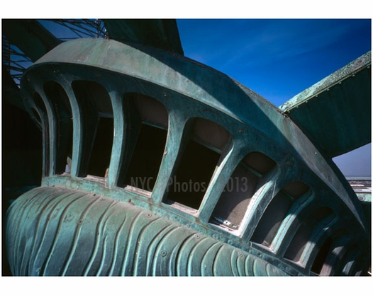 Observation windows in the Tiara - Statue of Liberty, Liberty Island