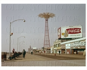 Parachute Coney Island Boardwalk 1958