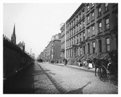Park Avenue looking north toward East 38th Street 1895 Murray Hill NYC