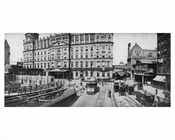 Park Avenue looking north toward East 42nd Street & Grand Central Station  - Midtown East 1895 NYC