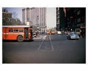 Park Row Trolley  1948 - Civic Center Downtown Manhattan- New York, NY