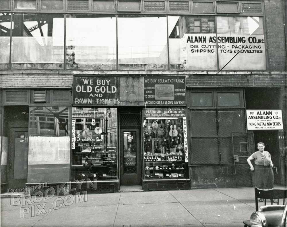 Pawn Shop At 183 Chatham Square 1950 Manhattan Old