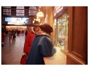 People  at the Metro North Ticket Counter at Grand Central Station 1988
