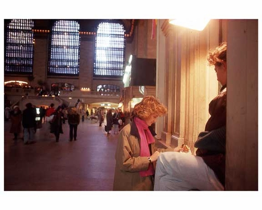 People at the Ticket Counter of Grand Central Station 1988