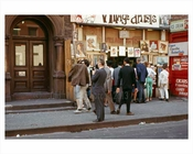 People outside of an art supply store 1965 Greenwich Village  - NYC