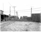 Pleasant Ave 1911 - looking north at LIRR crossing
