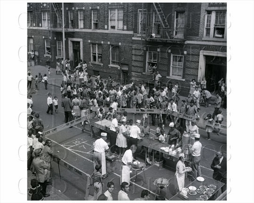 Powell Street with grillers Brownsville 1958