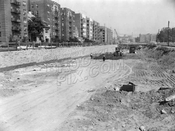 Prospect Expressway under construction, looking north from near Church Avenue, 1960
