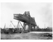 Queensboro Bridge  under construction 1907 - Long Island City - Queens,  NY