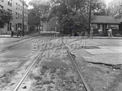 Railroad Avenue (New York & Coney Island RR right-of-way) looking west at West 29th St., 6-20-44