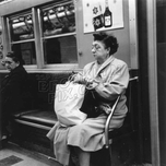 Returning from a shopping trip on the IRT, c.1960