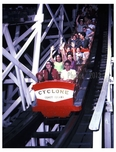 Ride the  Cyclone - Coney Island - 1970s On the Cyclone, Coney's last great coaster, still running and world famous coney05