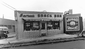 Savran's Coffee Shop, Rockaway and Ditmas Avenues, 1950