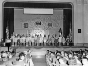 School play at P.S. 214, 1948