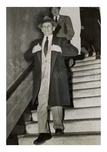 Sharply Dressed ganster - Meyer Lansky as he left the courthouse in NYC