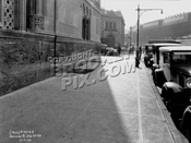 Side of newly-constructed Williamsburgh Savings Bank Building, LIRR and 5th Ave el in distance, 1929