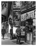side walk view of shops off 14th Street & 6th Ave - Greenwich Village - Manhattan - New York, NY 1916