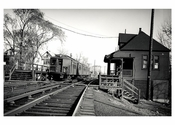 SIRT  - train pulling up to the Station Staten Island NY