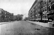 Sixth Avenue southwest from 49th Street, 1925