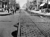South 5th Street looking west from Hooper Street, 1923