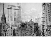 St. Pauls Church, Woolworth building, Post Office, Municipal Building & Park National Bank
