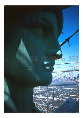 Statue of Liberty - detail view face