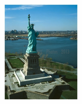 Statue of Liberty - looking northwest