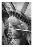 Statue of Liberty - profile view of left side of the head May 1984