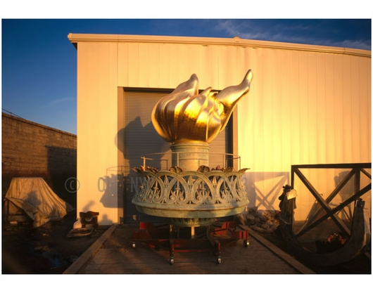 Statue of Liberty -view of new torch & flame