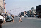 Surf Avenue, east to Stillwell Avenue, 1956