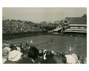 Tennis match between  Johnston V. Patterson 1922- Forest Hills  - Queens - NYC