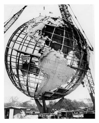 The Unisphere at the Worlds Fair 1964 - Flushing - Queens NY