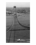 The Verrazano Bridge under construction