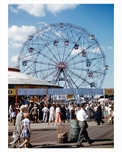 The Wonder Wheel at Coney Island 1950  - Brooklyn  NY