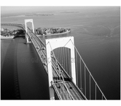 Throgs Neck Bridge- view of towers looking north ny SUNY Maritime College