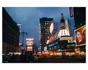 Times Square at night  December 1956 New York, NY