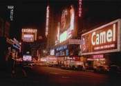 Times Square at night, early 1950s