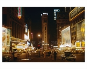 Times Square at night 1953