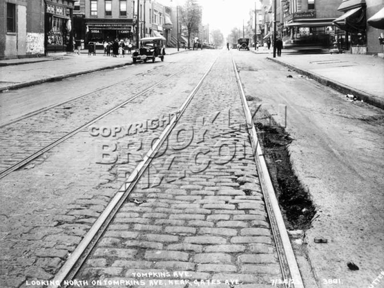 Tompkins looking north to Gates Avenue, 1923