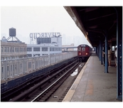 train arrival at unknown station in Brooklyn