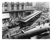 Train passing on Montrose & Bushwick Ave - Williamsburg - Brooklyn , NY  1923